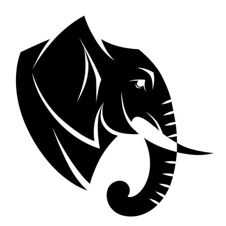 様式化された象の頭  イラスト・ベクター素材