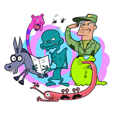 nonsense: Bizarre creatures Illustration