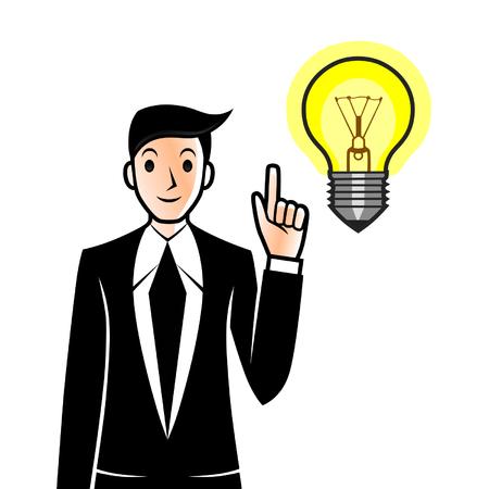 has: Businessman has an idea