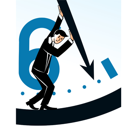 delay: Businessman stopping time