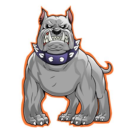 angry dog: Bulldog ilustración