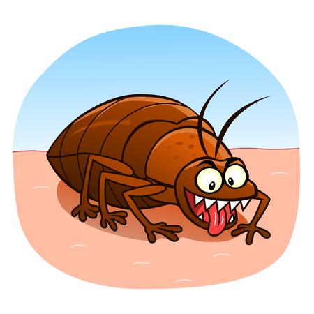Bedbug on the skin