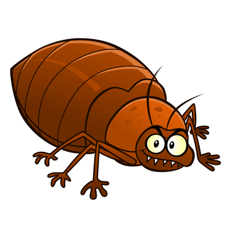 Cartoon smiling bedbug 일러스트