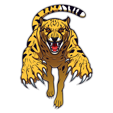 Jumping cheetah  イラスト・ベクター素材