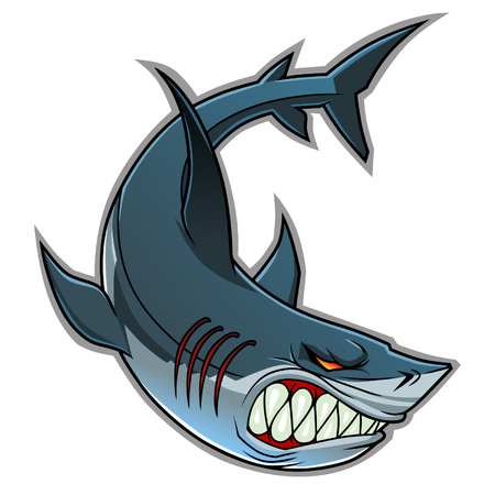 sharks: Shark mascot Illustration