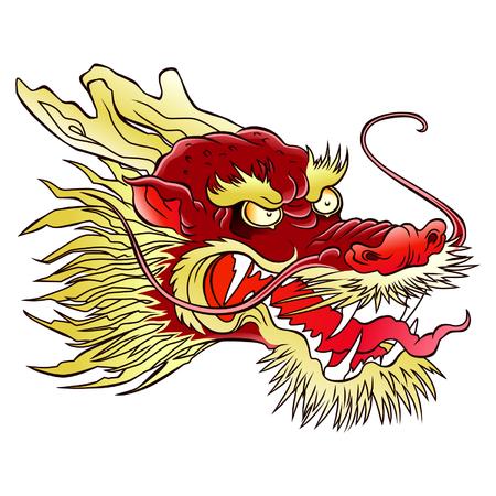 Testa di drago cinese Archivio Fotografico - 39342009
