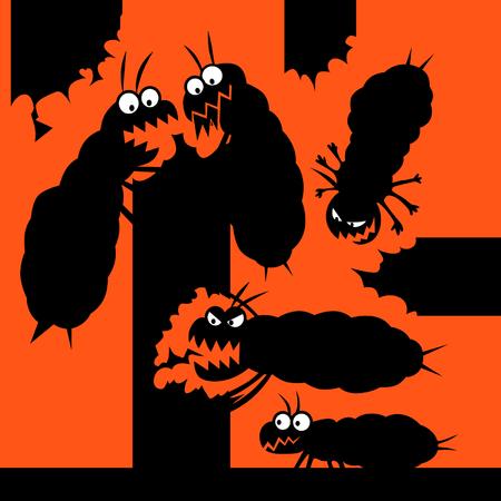 Damage from termites Illustration
