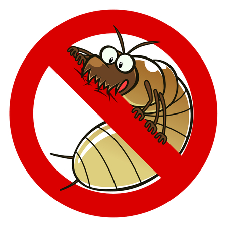 exterminate: No termites sign Illustration