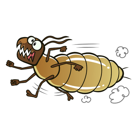 run away: Running termite Illustration
