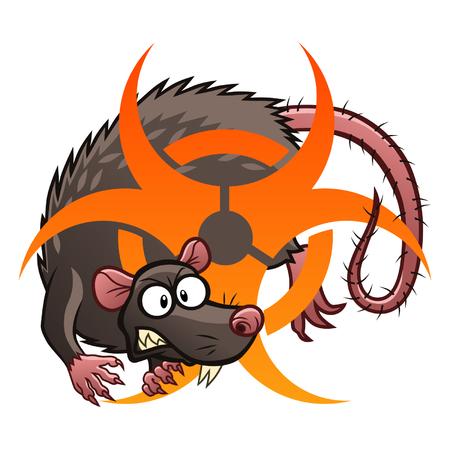 rata caricatura: Rata Infecciosas Vectores