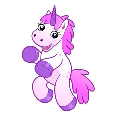 Cute happy unicorn Vectores