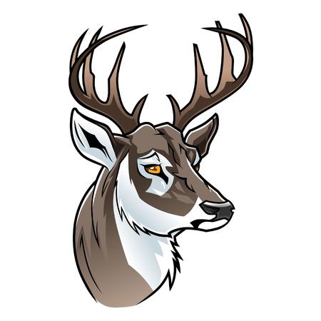 mascots: Cartoon deer head