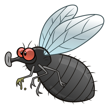 mosca caricatura: Mosca de la historieta