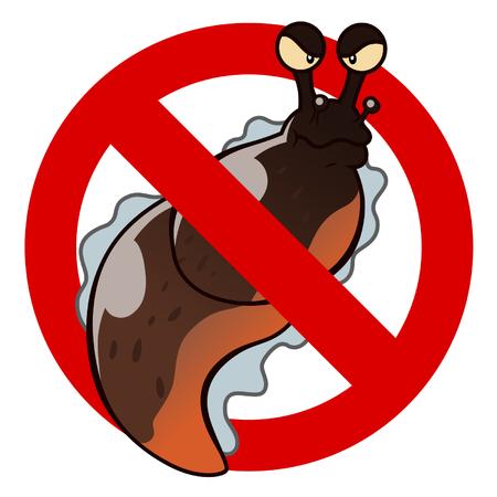 exterminate: anti slug sign Illustration