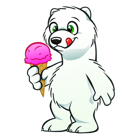 cachorro: Cachorro de oso con helado