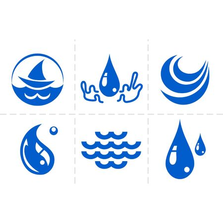water flow: Water icon set Illustration