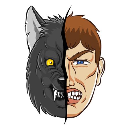 wilkołak: Werewolf face