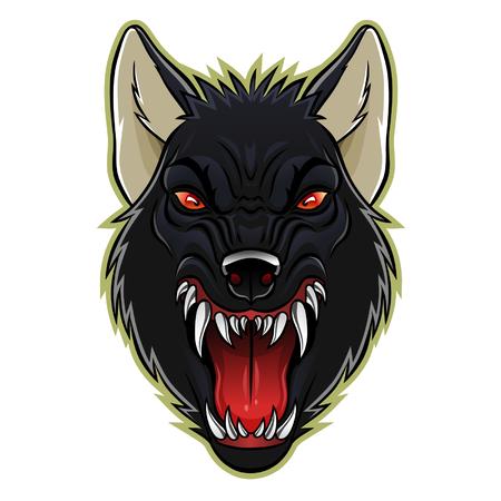 animal head: Werewolf head Illustration