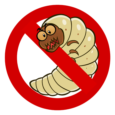 stop: Anti woodworm sign Illustration