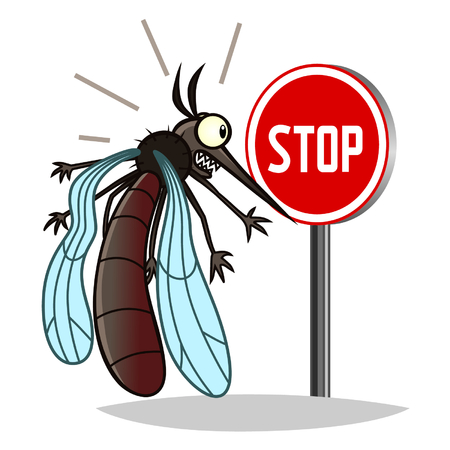 stop mosquito sign: stop mosquito Illustration