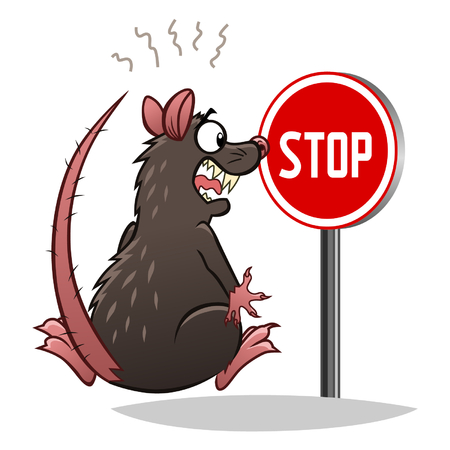 Stop met ratten Stock Illustratie