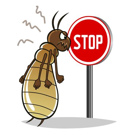 シロアリを停止します。