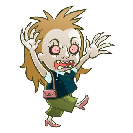 Cute zombie woman