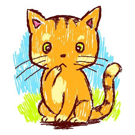 sorprendido: gato lápiz