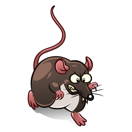 cute mouse: Cartoon mouse pest Illustration