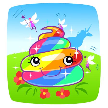 loony: Unicorn rainbow magic turd Illustration