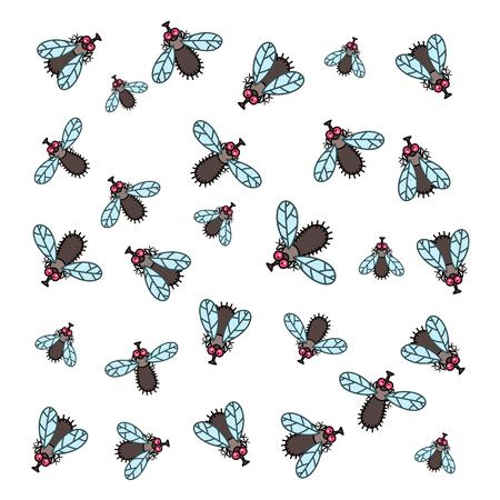 small flock: Flies flock