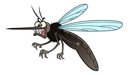 gnat: Cartoon mosquito. Illustration