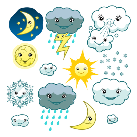 sun set: Cute weather collection Illustration