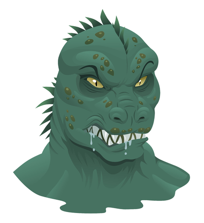 space invader: Reptile alien Illustration