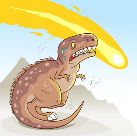 t rex: Dinosaur extinction Illustration