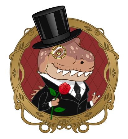 old man portrait: Sir tyrannosaurus