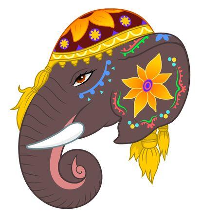 ornamentations: Indian elephant head