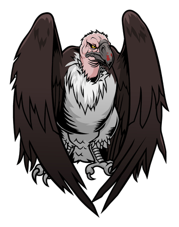 carrion: Cartoon vulture Illustration