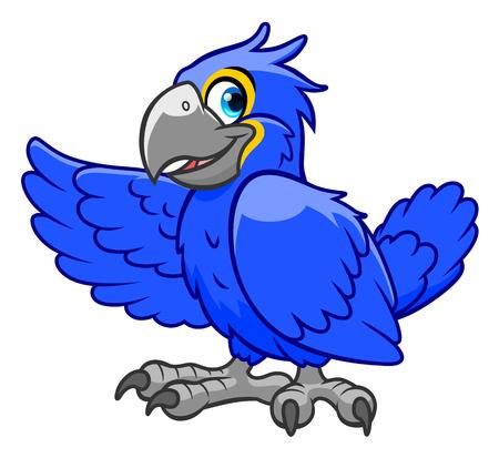cartoon parrot: cartoon parrot