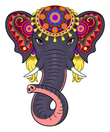 Indische olifant gezicht