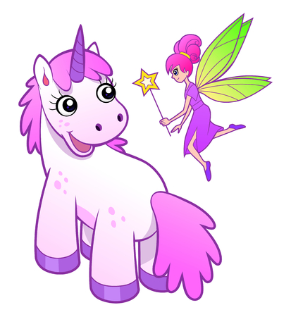 fairy: Unicorn and fairy
