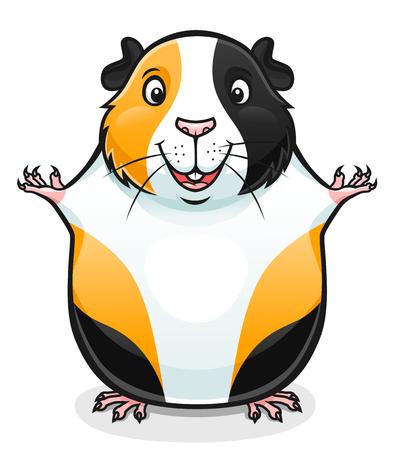 illustration of cute cartoon guinea pig. Vettoriali