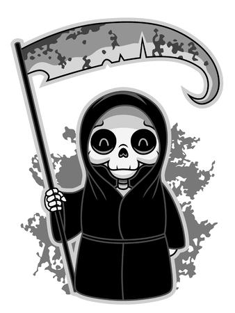 macabre: Cute grim Reaper