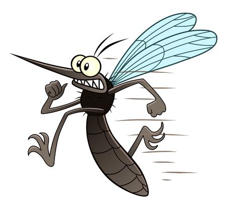 moustiques Courir Illustration