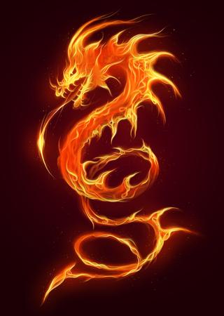 Dragone di fuoco Archivio Fotografico - 65012701