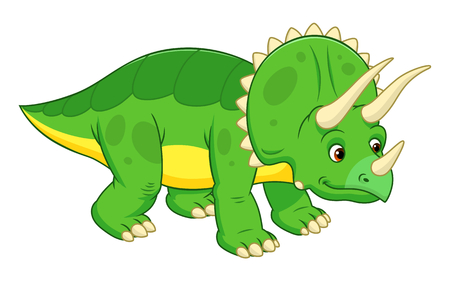 triceratops: Cute cartoon triceratops