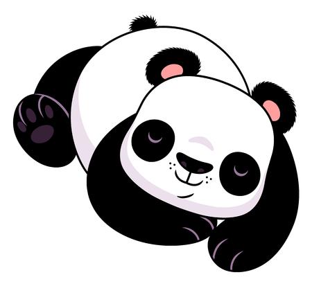 wild asia: sleeping panda Illustration
