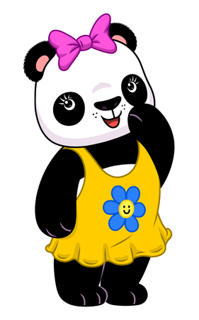 female animal: Panda girl