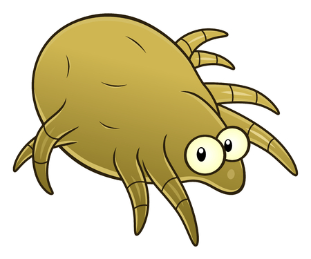 Cartoon dust mite Stock Illustratie