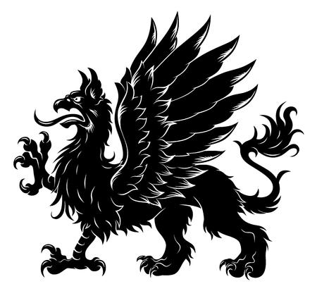 Heraldic griffin Illustration